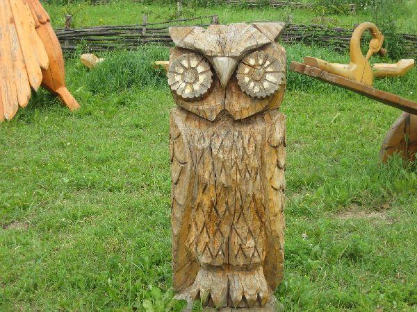 Деревянные фигуры для сада своими руками