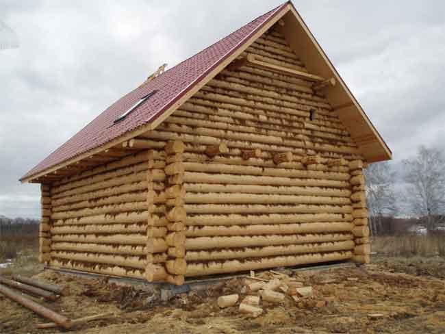 Крыша рубленного дома