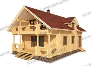 Дом из бревен 6х8 цена
