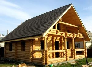 Сруб дома, построенный в районе г. Кимры