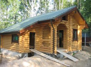 Сруб дома, построенный в районе г. Ржев