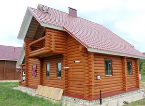 Сруб дома, построенный в районе г. Осташков