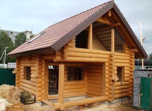 Сруб дома, построенный в районе г. Серебряные Пруды