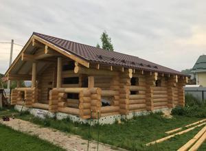 Сруб дома, построенный в районе г. Буй