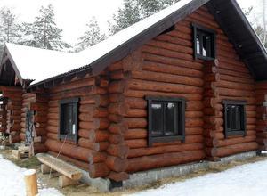Сруб дома, построенный в районе г. Вытегры