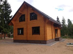 Сруб дома, построенный в районе г. Вышний Волочек
