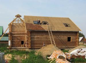 Объект по строительству бревенчатого дома в Рузском районе