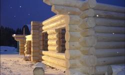 1Преимущество зимней древесины для русского сруба