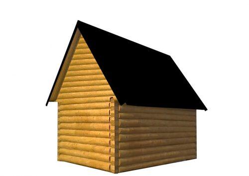 Внешний вид сруба дома в лапу