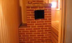 Печь в бане из кирпича в д Песье