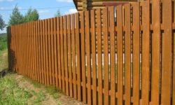 Забор из доски 2