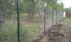 Забор сетка рабица 1