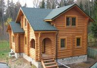 Сруб дома, построенный в Орловской области п. Ливны