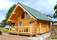 Сруб дома, построенный в районе г.Коломны