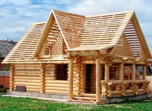 Сруб дома, построенный в близи г. Александров