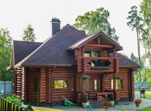 Сруб дома, построенный в районе г.Тверь