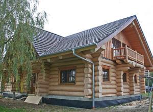 Сруб дома, построенный под Можайском